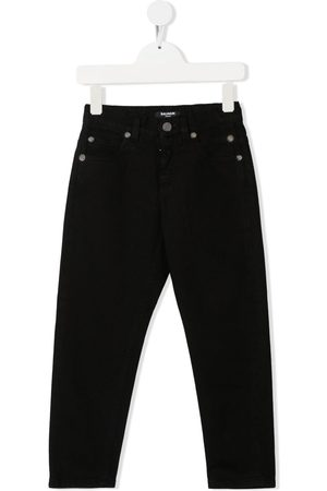 Balmain Boys Straight - Straight-leg cotton jeans