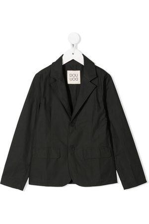 DOUUOD KIDS Single-breasted cotton blazer