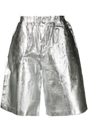 Comme des Garçons Metallic effect shorts