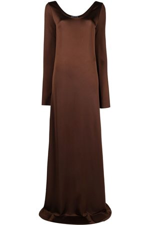 Kwaidan Editions Long-sleeve flared maxi dress