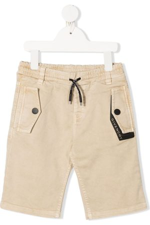 Givenchy Boys Trousers - Drawstring cotton trousers - Neutrals