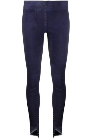 ISAAC SELLAM EXPERIENCE Slim-fit leather trousers