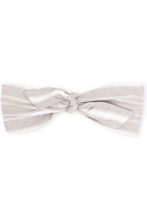Brunello Cucinelli Stripe-print knotted headband - Neutrals