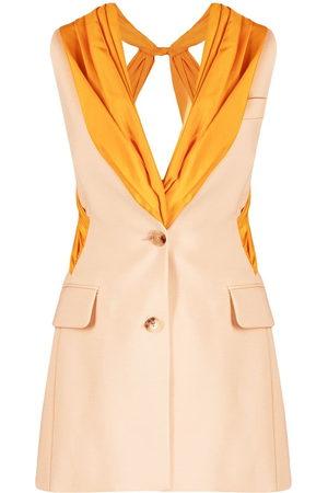 Nina Ricci Drape panel waistcoat - Neutrals