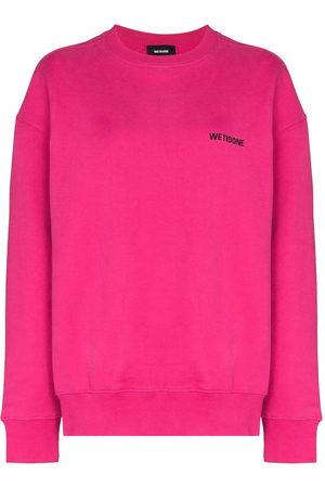 We11 Done Women Sweatshirts - Logo-print crew-neck sweatshirt