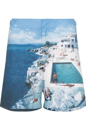 Orlebar Brown Men Swim Shorts - Bulldog Hulton print swim shorts