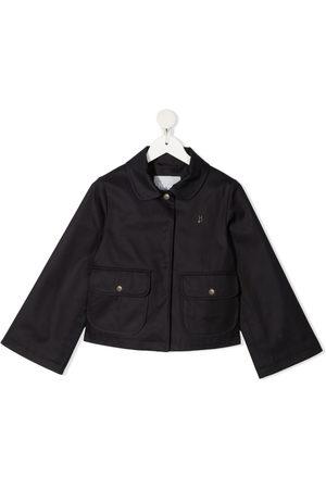 HERNO Girls Blazers - Logo-plaque long-sleeve jacket