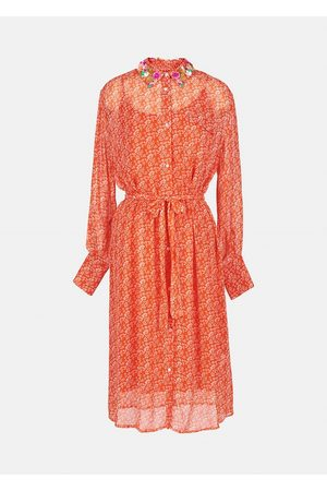 Essentiel Antwerp Zamingo Embo Collar Shirt Dress - Combo 2 Spicy Orange Z2SO