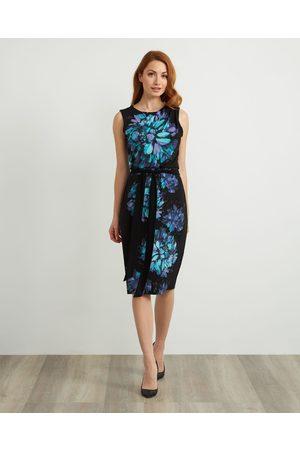 Joseph Ribkoff Sleeveless Floral Dress Style 211220