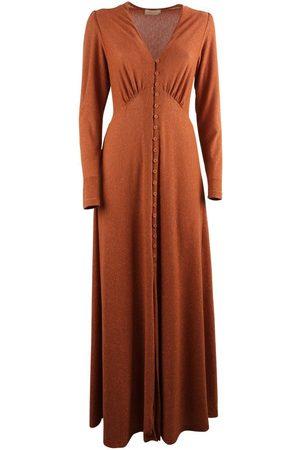 MOMONÍ MOMON WOMEN'S POTENZAORANGE POLYESTER DRESS