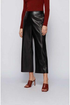 HUGO BOSS Taomie Leather Wide Leg Trouser