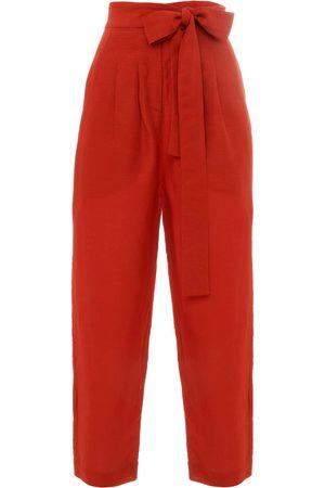 Paolita Women Formal Trousers - Burnt Cigarette Trouser