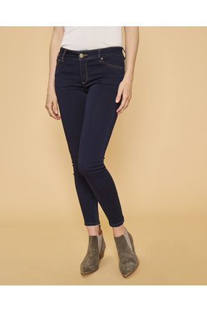 Mos Mosh Women Trousers - Victoria 7/8 Black Jeans with Zips - Dark