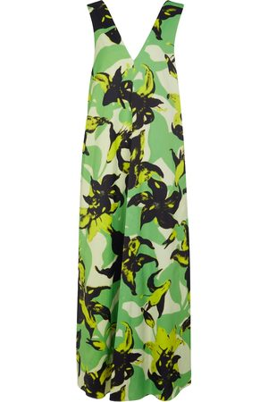DRIES VAN NOTEN Floral satin maxi dress