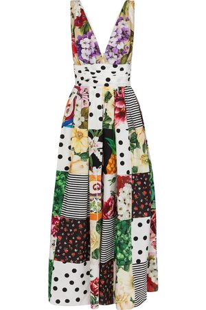 Dolce & Gabbana Patchwork cotton poplin maxi dress