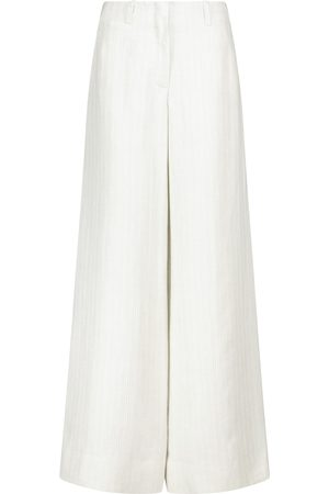 Loro Piana Harve high-rise wide-leg linen pants