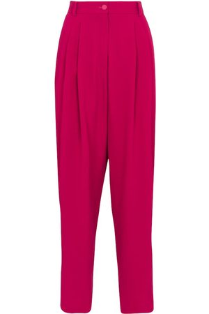 Dolce & Gabbana High-rise tapered stretch-crêpe pants