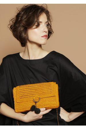 MARAINA LONDON Women Purses & Wallets - CHARLOTTE small raffia cross-body bag