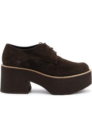 Paloma Barceló Women Shoes - PALOMA BARCEL WOMEN'S MONSARAZBROWN SUEDE LACE-UP SHOES
