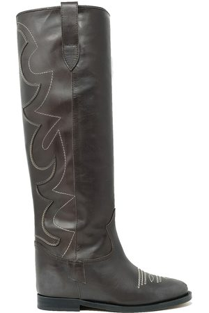 Via Roma WOMEN'S 35152BROWN LEATHER BOOTS