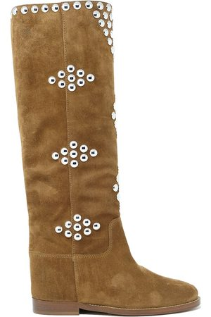 Via Roma WOMEN'S 35003BROWN SUEDE BOOTS