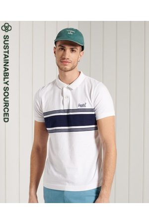 Superdry Organic Cotton Vintage Chestband Jersey Polo Shirt
