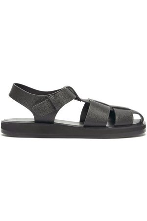 The Row Women Sandals - Caged Grained-leather Sandals - Womens