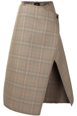 We11 Done Open-front wrap skirt - Neutrals
