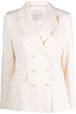 Ermanno Ermanno Double-breasted long-sleeved blazer - Neutrals