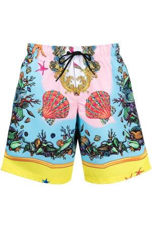 VERSACE Trésor de la Mer-print swim shorts