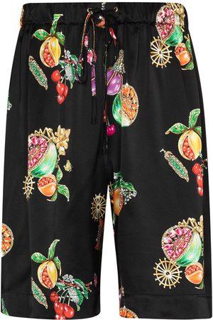 Edward Crutchley Hawaiian fruit print shorts