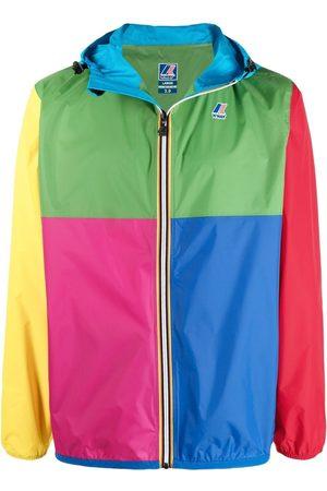K-WAY R&D Madrid colour-block logo-print jacket