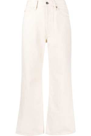 Jil Sander Cropped flared trousers - Neutrals