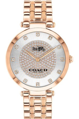 Coach Park Rose Gold Plated Stainless Steel Swarovski Crystal Dial Watch