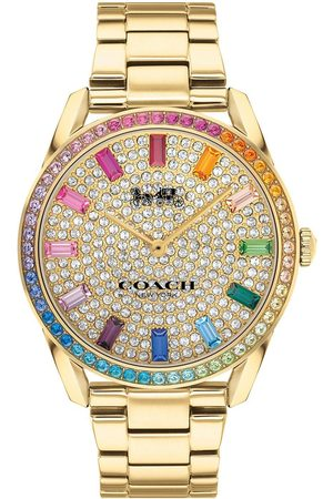 Coach Women Watches - Preston Stainless Steel With Rainbow Crystal Bezel And Pave Dial Watch