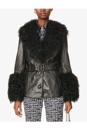 Saks Potts Shorty shearling and leather jacket