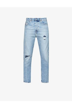 Diesel Vider faded slim-fit stretch-denim jeans