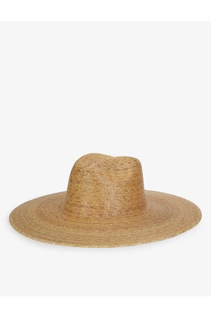Lack of Color Palma wide-brim palm leaf fedora hat