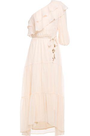 Maje Women Midi Dresses - Woman Racha One-shoulder Ruffled Georgette Midi Dress Size 34