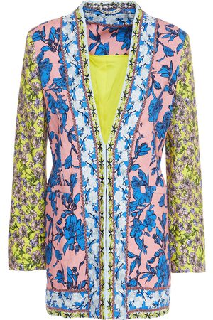 ALICE+OLIVIA Woman Embroidered Floral-print Linen-blend Jacket Antique Rose Size 0