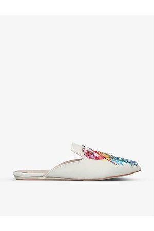 Kurt Geiger Women Sandals - Otter rainbow lobster-embroidered leather mules