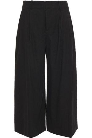 ALICE+OLIVIA Woman Cropped Linen-blend Culottes Size 0