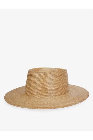 Lack of Color Palma wide-brim palm leaf boater hat
