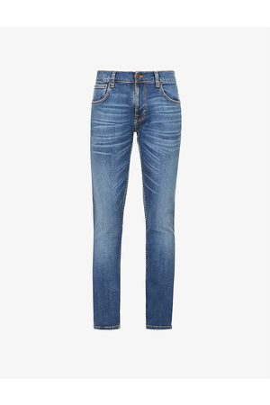 Nudie Jeans Tight Terry straight organic stretch-denim jeans