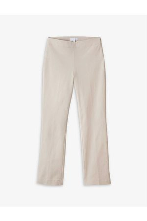 The White Company Straight mid-rise organic cotton-stretch trousers