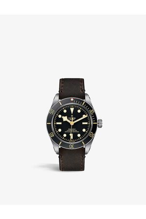 TUDOR M79030N-0002 Black Bay Fifty-Eight stainless steel and leather automatic watch
