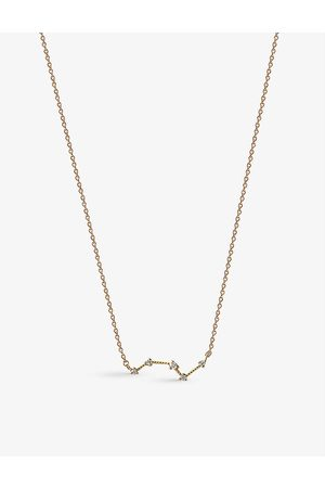 EDGE OF EMBER Constellation recycled 14ct and 0.09ct diamond necklace