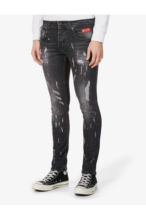 Inside OUT Denim Paint Splash slim-fit jeans