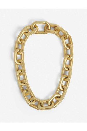 79HOUR Chrome 14ct -plated brass necklace