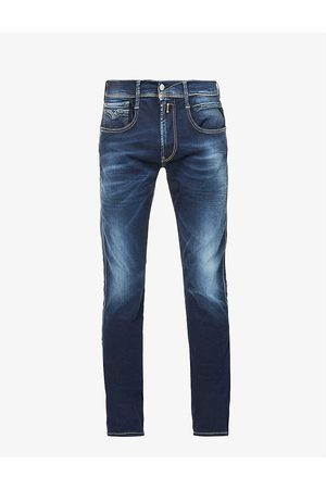 Replay Anbass Hyperflex slim-fit straight stretch-denim jeans